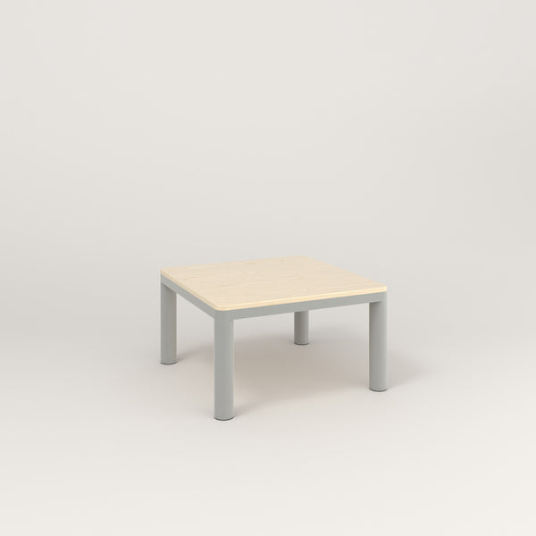 RAD Radius Coffee Table in solid ash and grey powder coat.