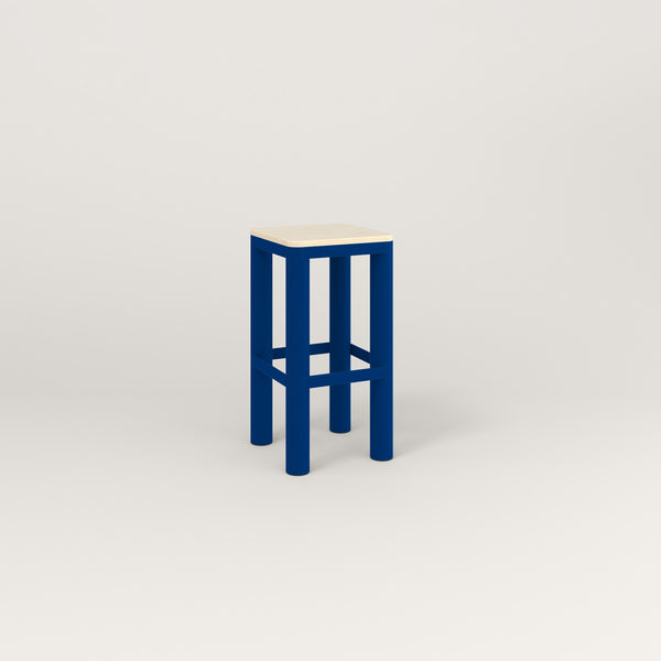 RAD Radius Simple Stool in solid ash and new blue powder coat.