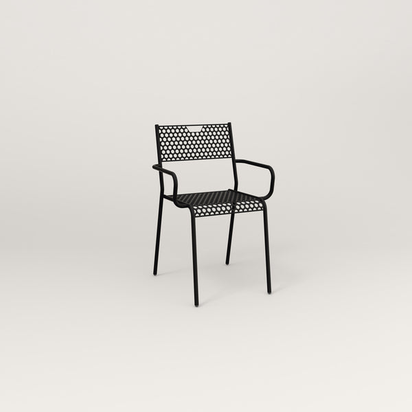 RAD Signature Arm Chair in perforated steel and black powder coat.
