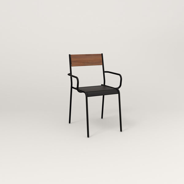 RAD Signature Arm Chair in slatted wood and black powder coat.