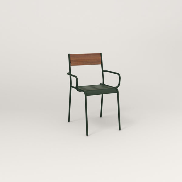 RAD Signature Arm Chair in slatted wood and fir green powder coat.