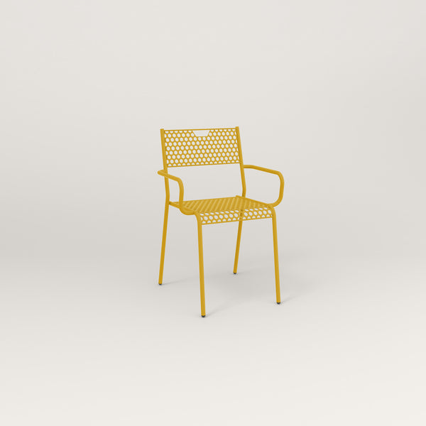 RAD Signature Arm Chair in perforated steel and yellow powder coat.
