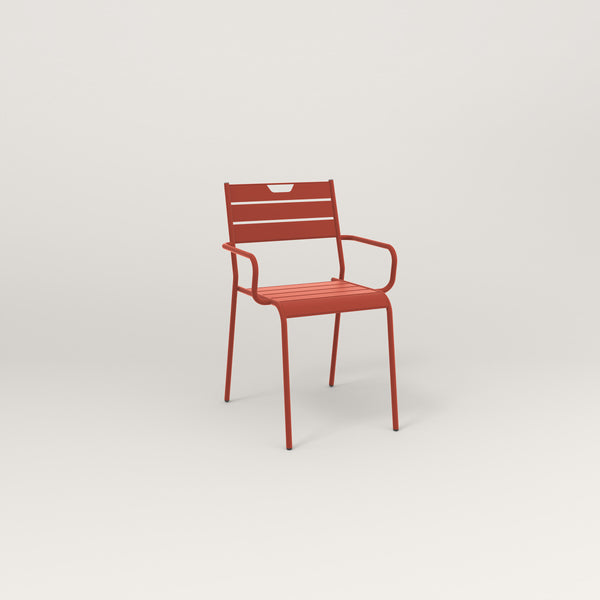 RAD Signature Arm Chair Slatted Steel in red powder coat.