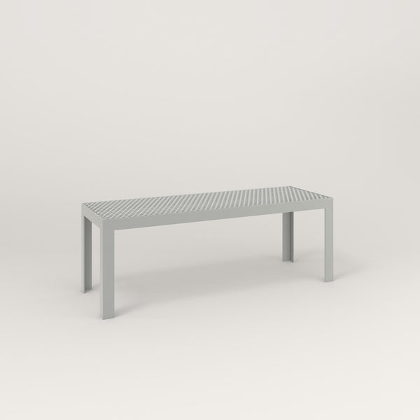 RAD Signature Bench in perforated steel and grey powder coat.