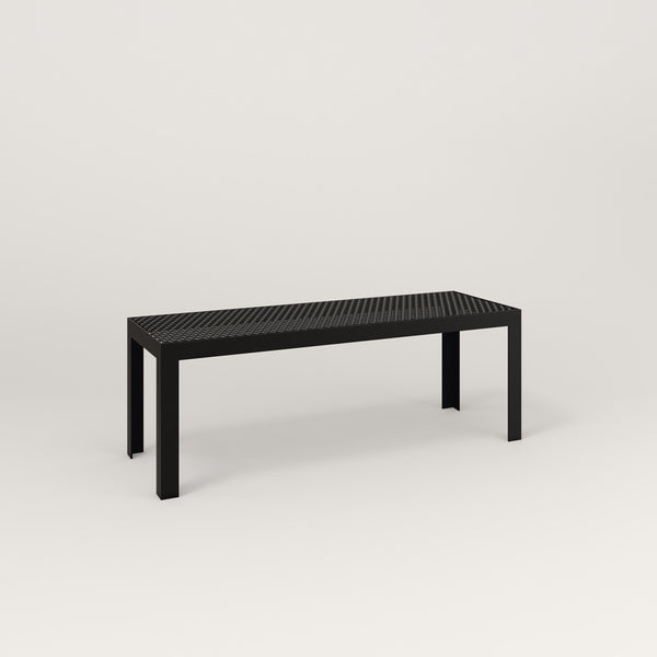 RAD Signature Bench in perforated steel and black powder coat.