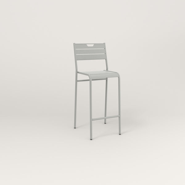 RAD Signature Bar Stool With Back Slatted Steel in grey powder coat.