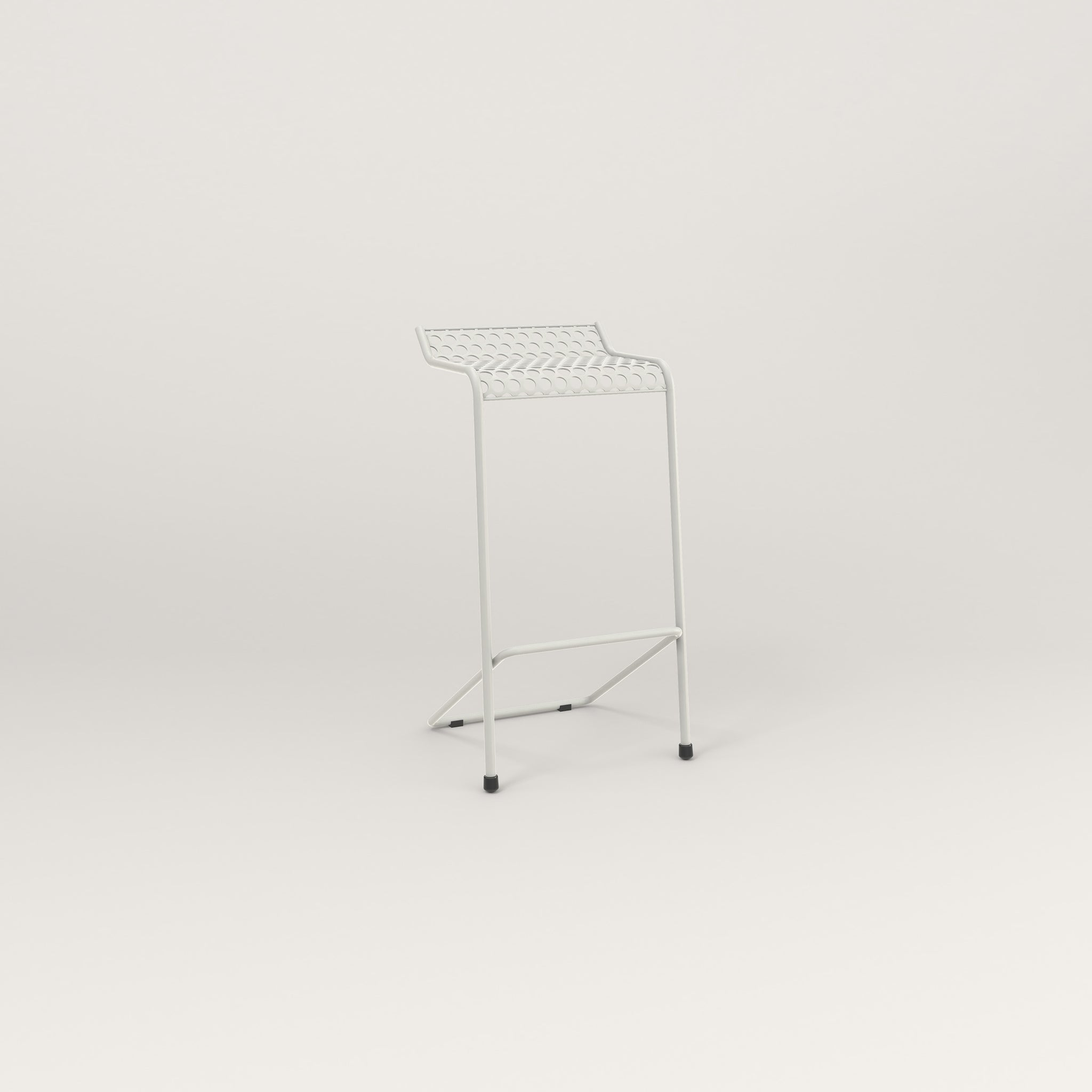 RAD Signature Bar Stool in perforated steel and white powder coat.