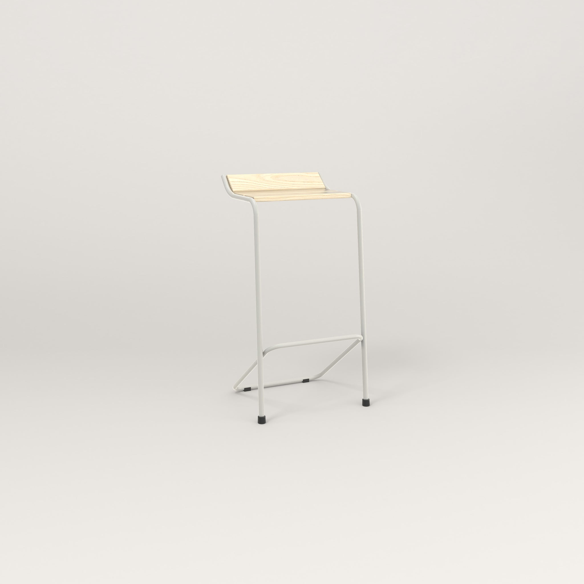RAD Signature Bar Stool in solid ash and white powder coat.