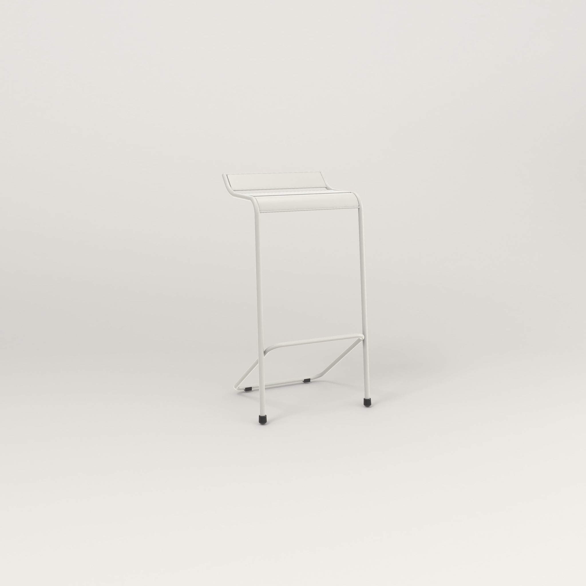 RAD Signature Bar Stool Slatted Steel in white powder coat.