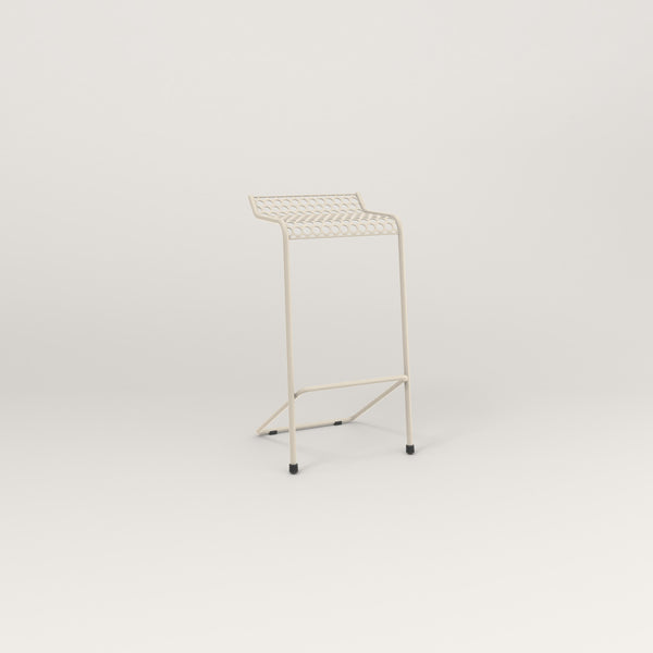 RAD Signature Bar Stool in perforated steel and off-white powder coat.