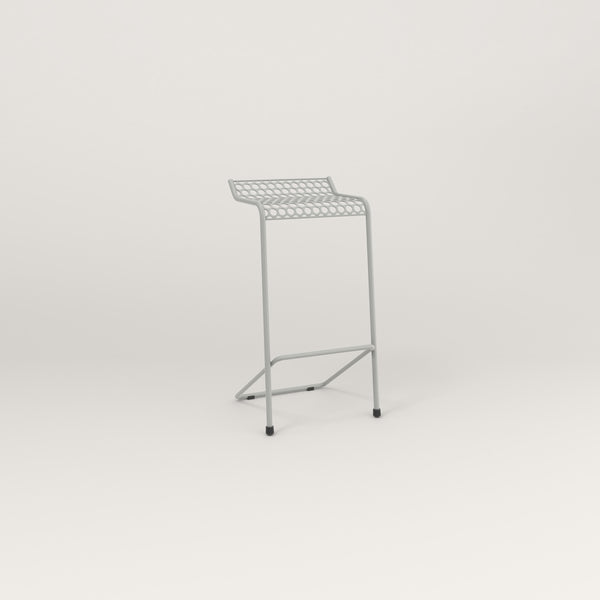 RAD Signature Bar Stool in perforated steel and grey powder coat.