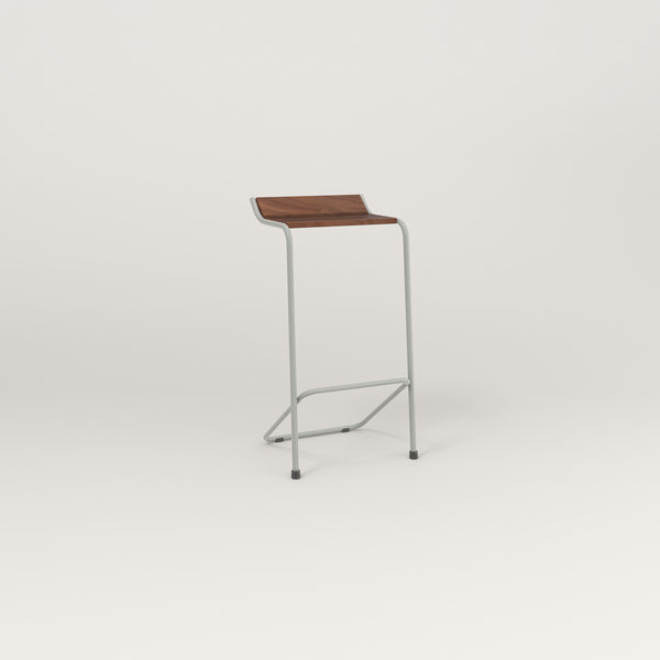RAD Signature Bar Stool in slatted wood and grey powder coat.