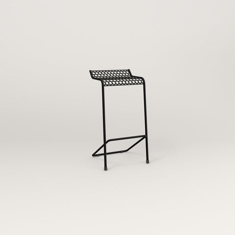 RAD Signature Bar Stool in perforated steel and black powder coat.