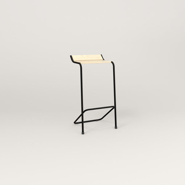 RAD Signature Bar Stool in solid ash and black powder coat.