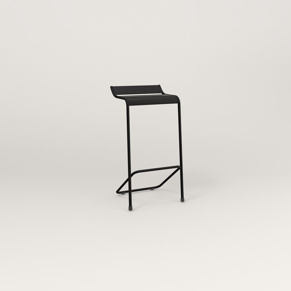 RAD Signature Bar Stool Slatted Steel in black powder coat.