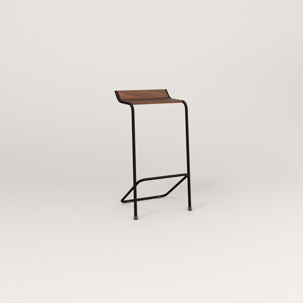 RAD Signature Bar Stool in slatted wood and black powder coat.