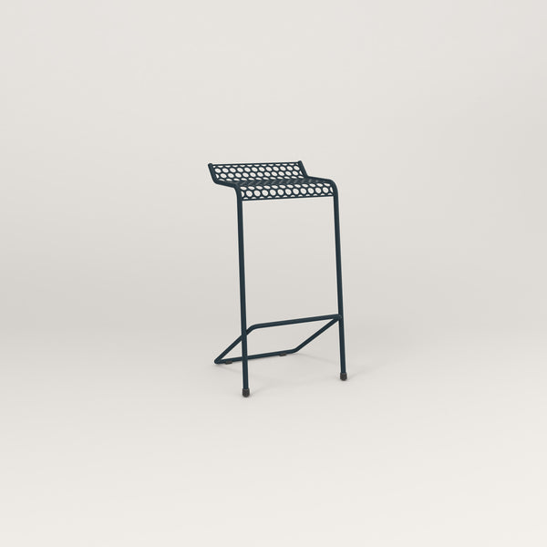 RAD Signature Bar Stool in perforated steel and navy powder coat.
