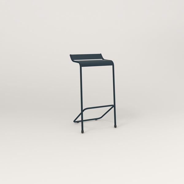 RAD Signature Bar Stool Slatted Steel in navy powder coat.