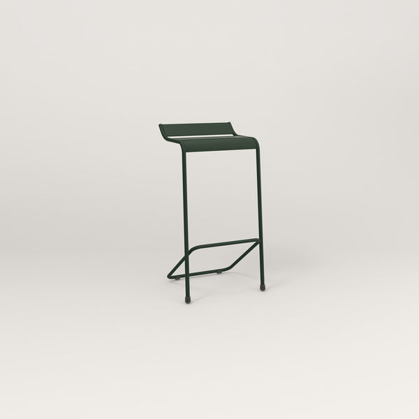 RAD Signature Bar Stool Slatted Steel in fir green powder coat.