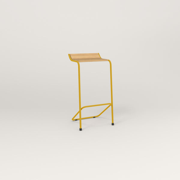 RAD Signature Bar Stool in solid white oak and yellow powder coat.