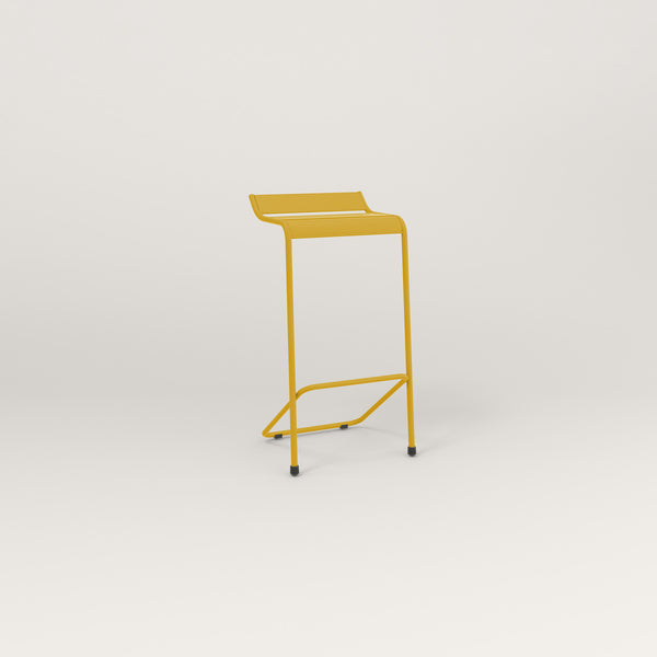 RAD Signature Bar Stool Slatted Steel in yellow powder coat.