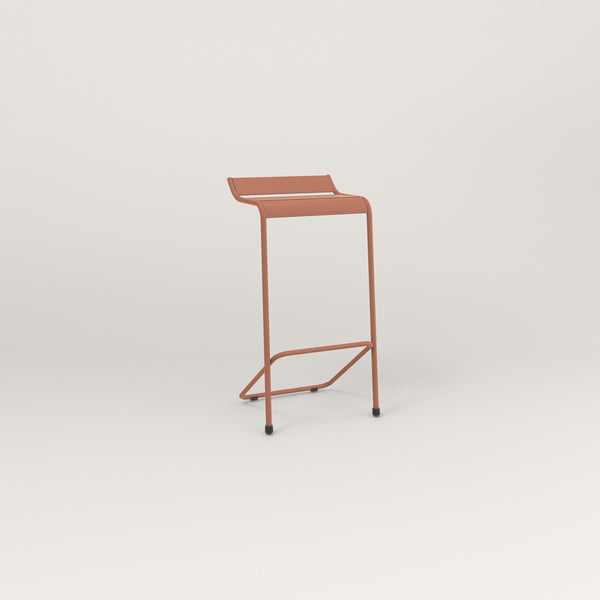 RAD Signature Bar Stool Slatted Steel in coral powder coat.