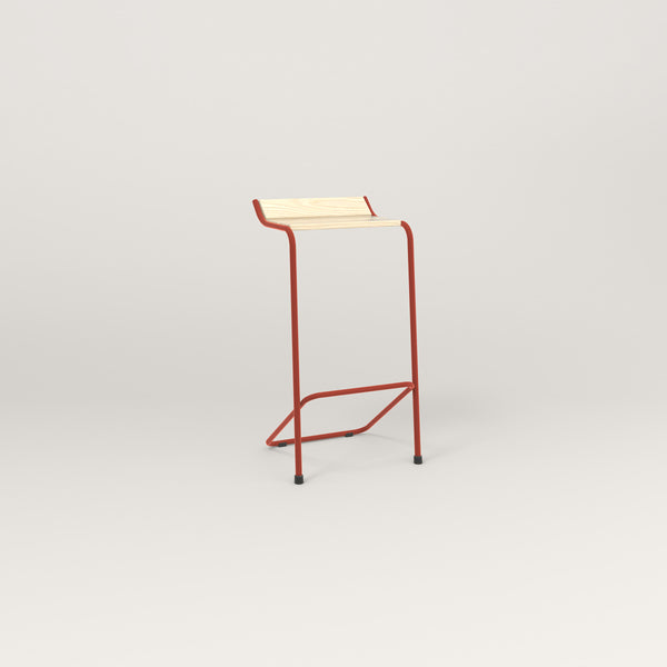 RAD Signature Bar Stool in solid ash and red powder coat.
