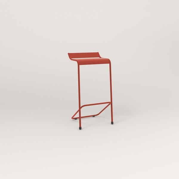RAD Signature Bar Stool Slatted Steel in red powder coat.