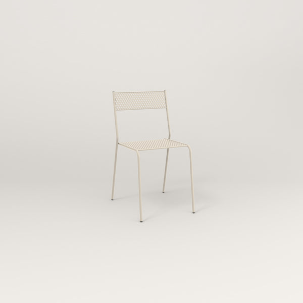 RAD Signature Cafe Chair in perforated steel and off-white powder coat.