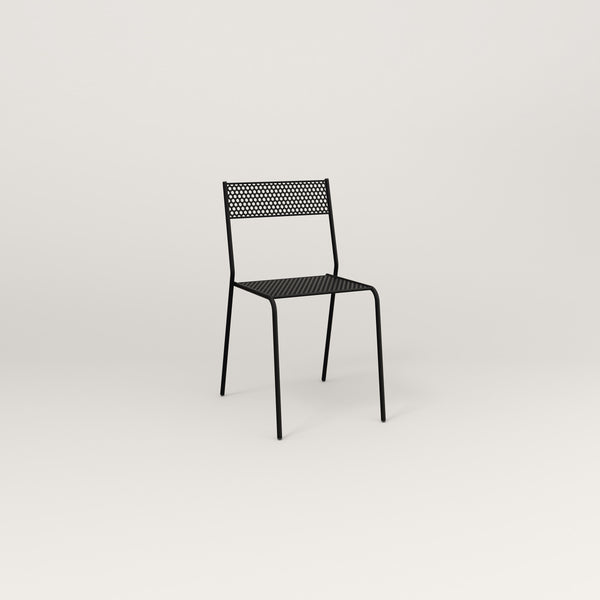 RAD Signature Cafe Chair in perforated steel and black powder coat.