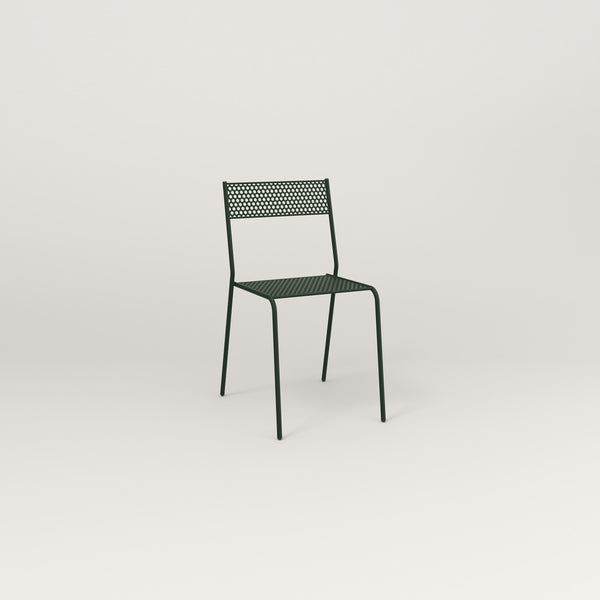 RAD Signature Cafe Chair in perforated steel and fir green powder coat.