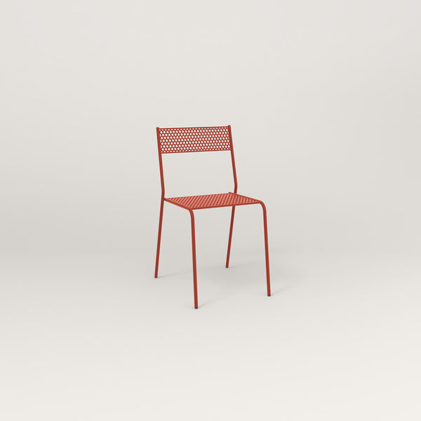 RAD Signature Cafe Chair in perforated steel and red powder coat.