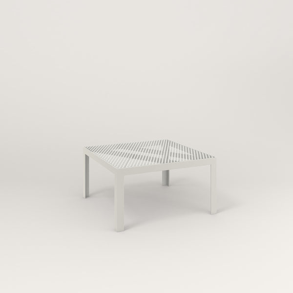 RAD Signature Coffee Table in perforated steel and white powder coat.