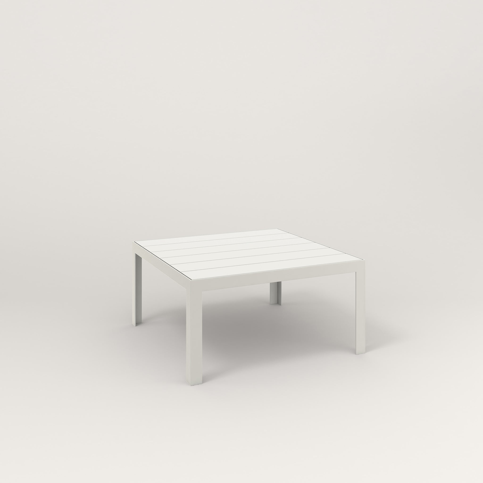 RAD Signature Coffee Table Slatted Steel in white powder coat.