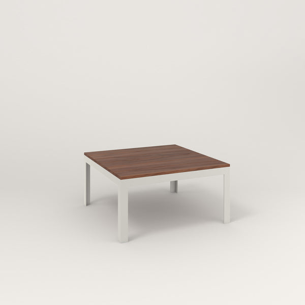 RAD Signature Coffee Table in slatted wood and white powder coat.