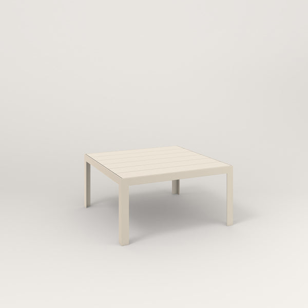 RAD Signature Coffee Table Slatted Steel in off-white powder coat.