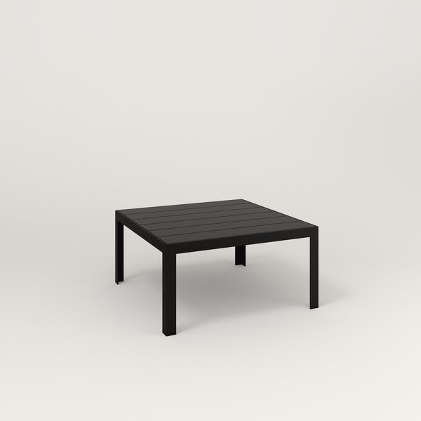 RAD Signature Coffee Table Slatted Steel in black powder coat.