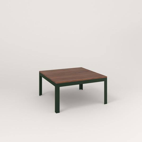 RAD Signature Coffee Table in slatted wood and fir green powder coat.