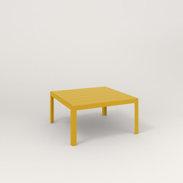 RAD Signature Coffee Table Slatted Steel in yellow powder coat.