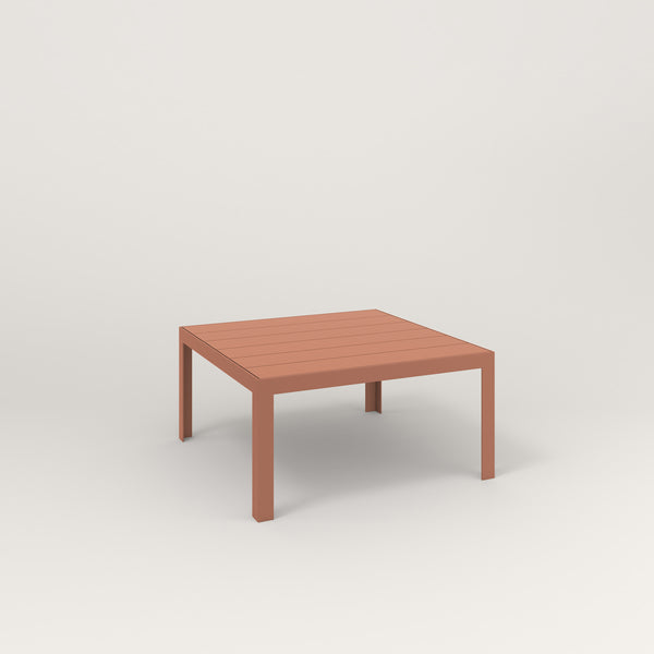 RAD Signature Coffee Table Slatted Steel in coral powder coat.
