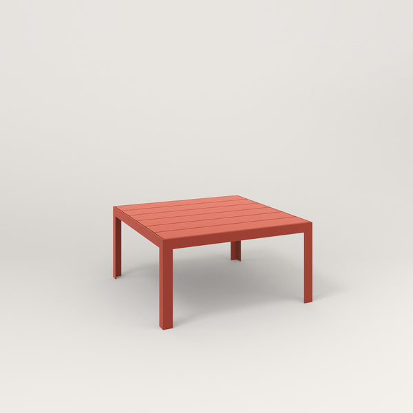 RAD Signature Coffee Table Slatted Steel in red powder coat.