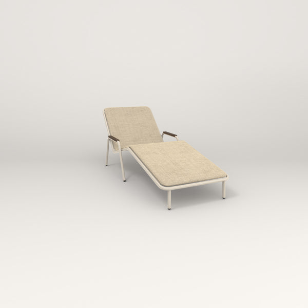 RAD Signature Chaise Lounge in off-white powder coat.