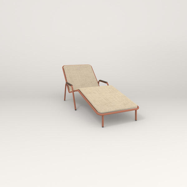 RAD Signature Chaise Lounge in coral powder coat.