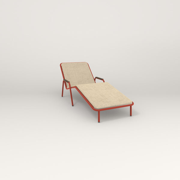 RAD Signature Chaise Lounge in red powder coat.
