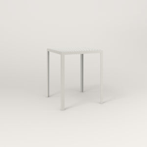 RAD Signature Square Cafe Table, in perforated steel and white powder coat.