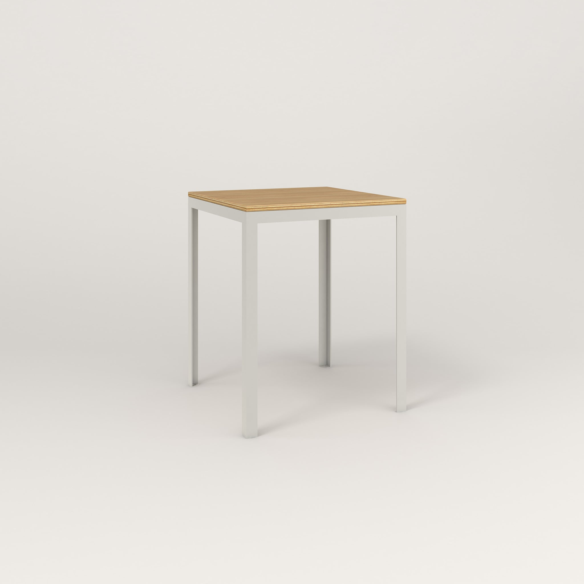 RAD Signature Square Cafe Table, Wood Veneer in white powder coat.