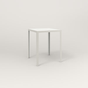 RAD Signature Square Cafe Table, Slatted Steel in white powder coat.