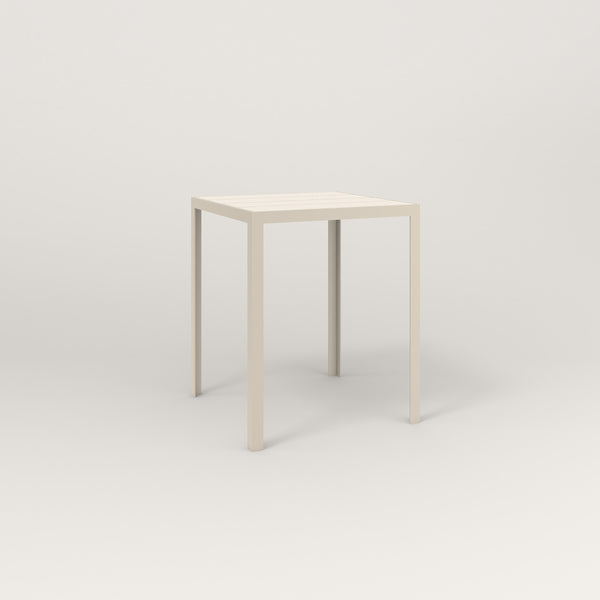 RAD Signature Square Cafe Table, Slatted Steel in off-white powder coat.