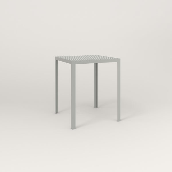RAD Signature Square Cafe Table, in perforated steel and grey powder coat.