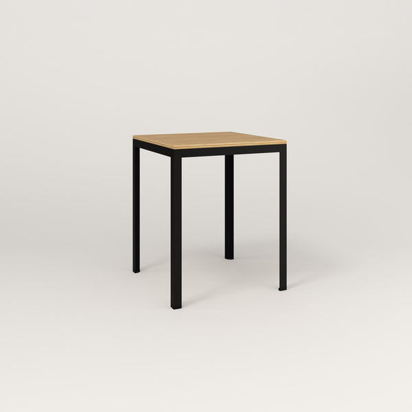 RAD Signature Square Cafe Table, Wood Veneer in black powder coat.